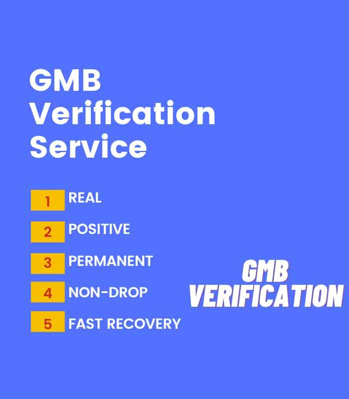 gmb verification Service